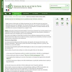 Ressources numériques classées par thème (SIENE)-Sciences de la vie et de la Terre-Portails disciplinaires