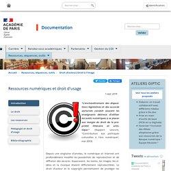 Ressources numériques et droit d'usage