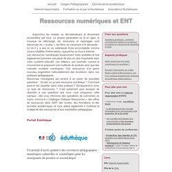 Ressources numériques et ENT