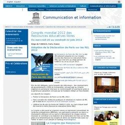 Congrès mondial 2012 des Ressources éducatives libres