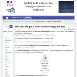 Ressources pour le marathon orthographique