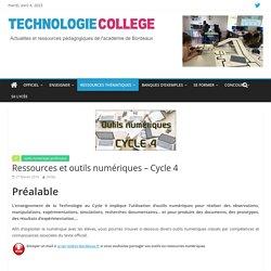 Ressources et outils numériques – Cycle 4