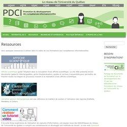Ressources développement des compétences informationnelles