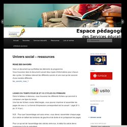 Univers social – ressources