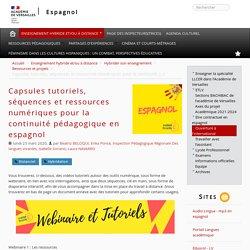 Capsules tutoriels, ressources numériques pour la continuité pédagogique en espagnol