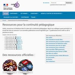 Ressources pour la continuité pédagogique