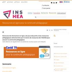 Ressources en ligne pour la continuité pédagogique