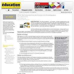 Utiliser des ressources libres de droits pour son site pédagogique