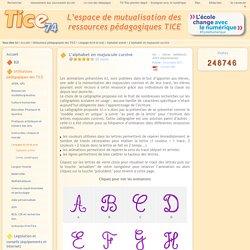 Tice 74 - Site des ressources pédagogiques TICE - L'alphabet en majuscule cursive