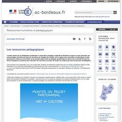 Les ressources pédagogiques - ac-bordeaux.fr