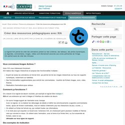 Créer des ressources pédagogiques avec XIA