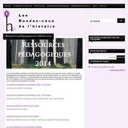 Ressources pédagogiques de l'édition 2014
