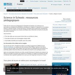 Science in Schools : ressources pédagogiques