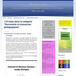 Documents et ressources pédagogiques