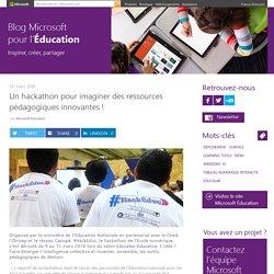 Un hackathon pour imaginer des ressources pédagogiques innovantes !