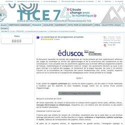 Tice 74 - Site des ressources pédagogiques TICE - Le numérique dans les nouveaux programmes 2016