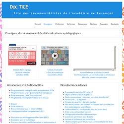 Enseigner, des ressources et des idées de séances pédagogiques – DocTICE