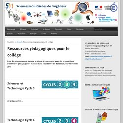 Ressources pédagogiques S2i