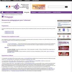 Ressources pédagogiques pour l'allemand - pedagogie 89