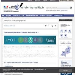 Les ressources pédagogiques pour le cycle 3 - ac-aix-marseille.fr