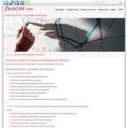 Sources et entrepots de ressources pédagogiques numériques » fuscia