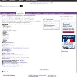 Ressources pédagogiques - Rectorat de l'académie de Besançon - Égalité filles garçons