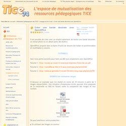 Tice 74 - Site des ressources pédagogiques TICE - Créer une bande dessinée avec OpenOffice