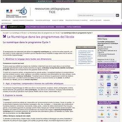 Le numérique dans le programme Cycle 1 - Le numérique à l'École - ressources pédagogiques TICE