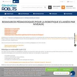 Ressources pédagogiques pour la robotique (classées par niveaux)