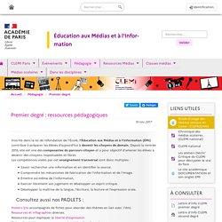 Ressources pédagogiques 1er degré - CLEMI Paris