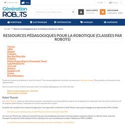 Ressources pédagogiques pour la robotique (classées par robots)