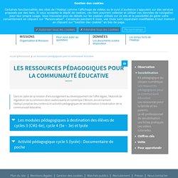 Les ressources pédagogiques pour la communauté éducative