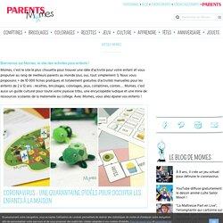 Activités pour enfants : activités manuelles et ressources pédagogiques - Momes.net