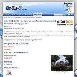 2012 : du livre au numérique, ressources & matériels pédagogiques - intertice