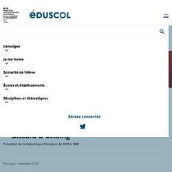 Des ressources pédagogiques sur Valéry Giscard D'Estaing