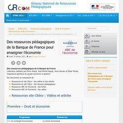 Des ressources pédagogiques de la Banque de France pour enseigner l'économie