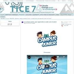Tice 74 - Site des ressources pédagogiques TICE - Le campus junior, pour apprendre à coder avec Scratch