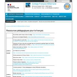 Ressources pédagogiques pour le français