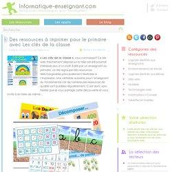 Ressources pédagogiques à imprimer au primaire avec Les clés de la classe