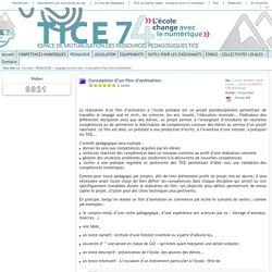 Tice 74 - Site des ressources pédagogiques TICE - Conception d'un film d'animation