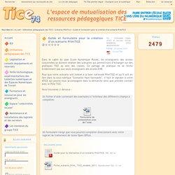 Guide et formulaire pour la création d'un scénario PrimTICE