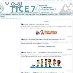 Tice 74 - Site des ressources pédagogiques TICE - Langue vivante