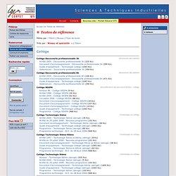 Portail STI - Ressources pédagogiques
