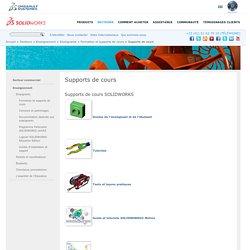 Supports de cours et ressources pédagogiques SolidWorks sur la CAO mécanique SOLIDWORKS