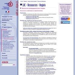 LVE - Ressources pédagogiques anglais