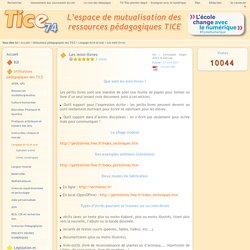 Tice 74 - Site des ressources pédagogiques TICE - Les mini-livres