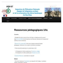 Ressources pédagogiques Ulis