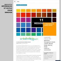 11 ressources en pensée design