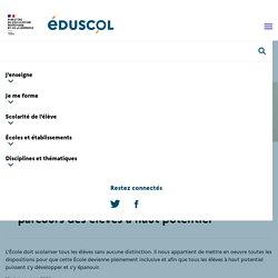 Ressources pour la personnalisation des parcours des élèves à haut potentiel