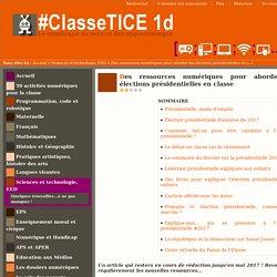 Des ressources numériques pour aborder les élections présidentielles en classe